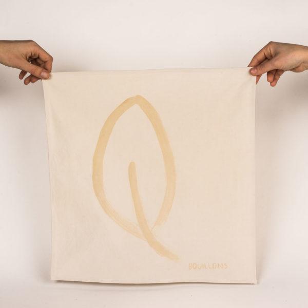 serviette de table feuille