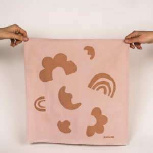 serviette de table rose