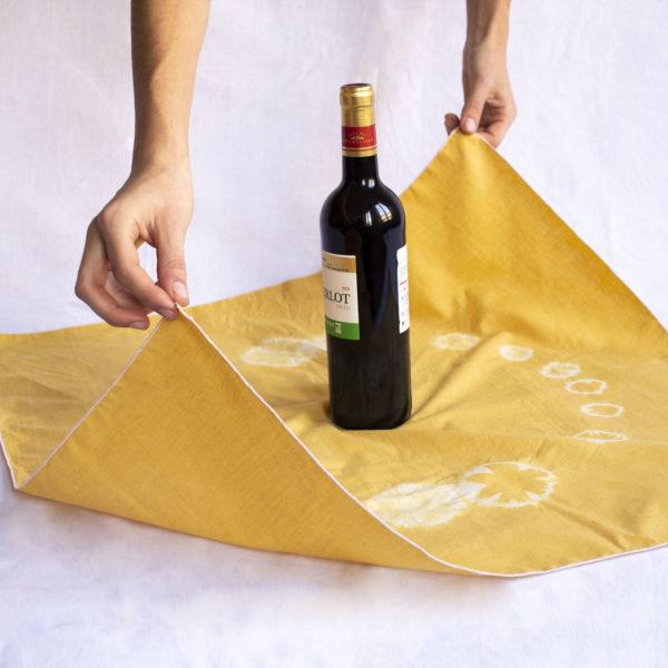 furoshiki bouteille de vin