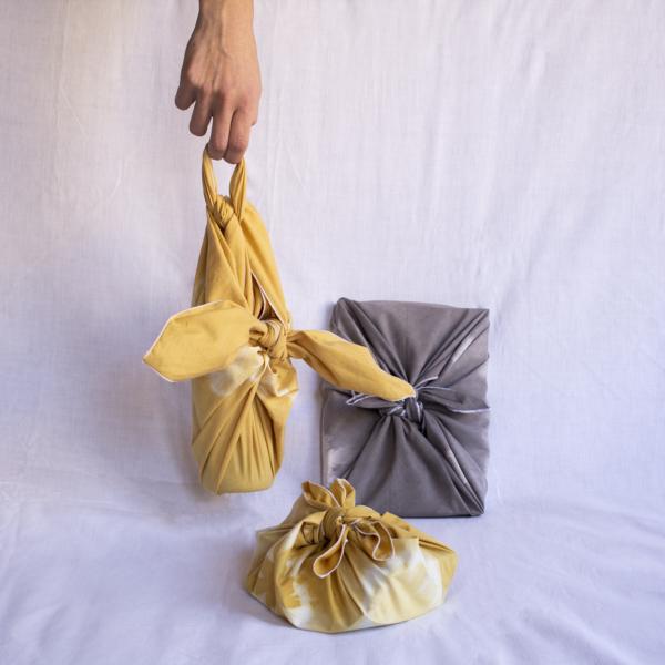 furoshikis jaune et gris